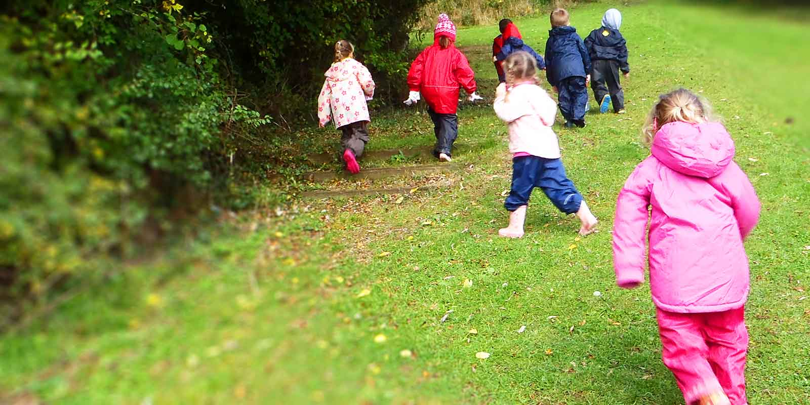off on a forest school adventure